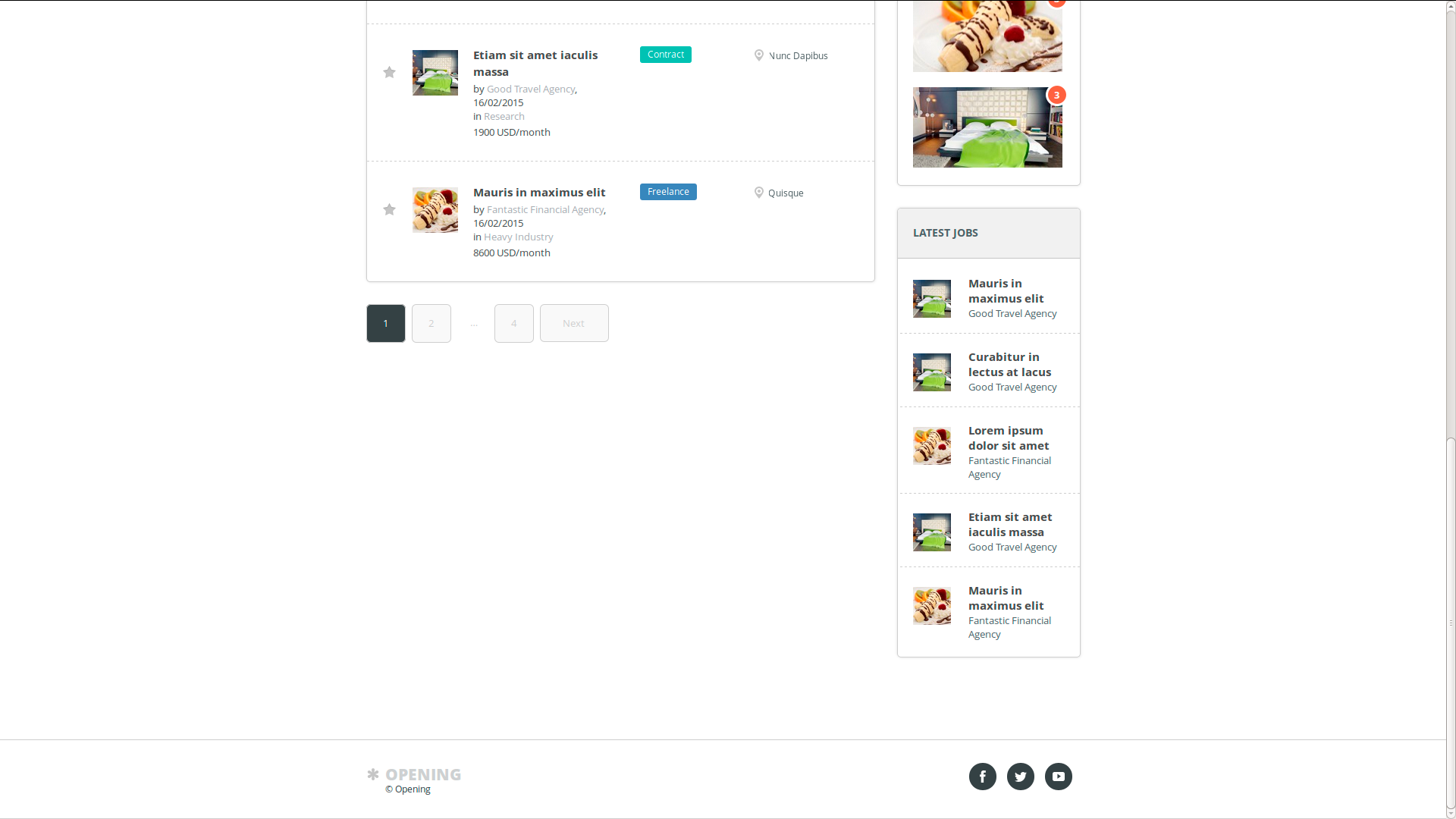 job board pro screenshots bestwebsoft help center jobs page display in front end widget of the latest jobs and footer